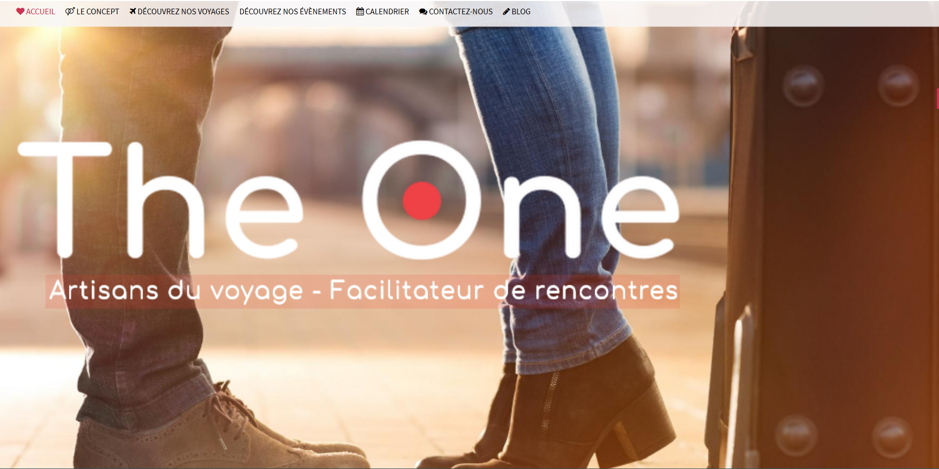 Page accueil The One Travel